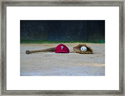 Little League Dreams Framed Print