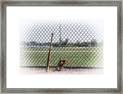 Little League - Faded Memories Framed Print by Bill Cannon