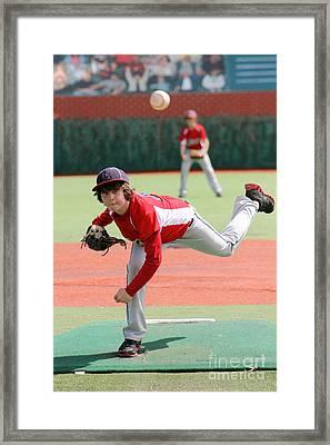 Little League Pitcher Framed Print by Lisa Billingsley