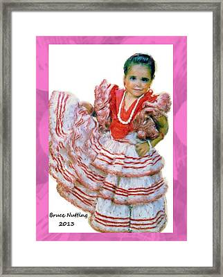 Framed Print featuring the painting Little Lidia by Bruce Nutting