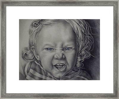 Little Lioness Framed Print by Lisa Marie Szkolnik