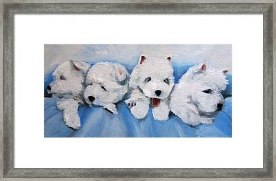 Little Litter Framed Print by Mary Sparrow