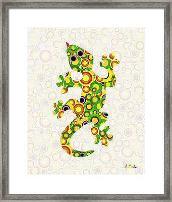 Little Lizard - Animal Art Framed Print by Anastasiya Malakhova