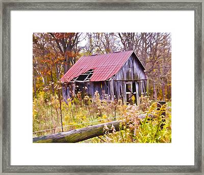 Little Lost Barn Framed Print