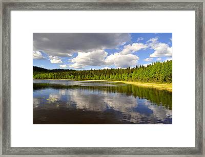 Framed Print featuring the photograph Little Lost Lake by Cathy Mahnke