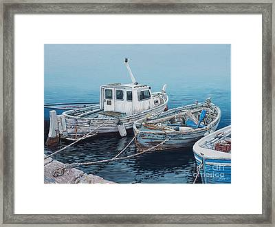 Little Med Boats Framed Print by Danielle  Perry