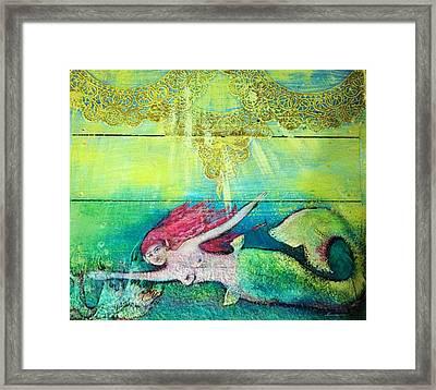 Little Mermaid  Framed Print by Michaela Kraemer
