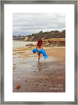 Little Mermaid On Land Framed Print