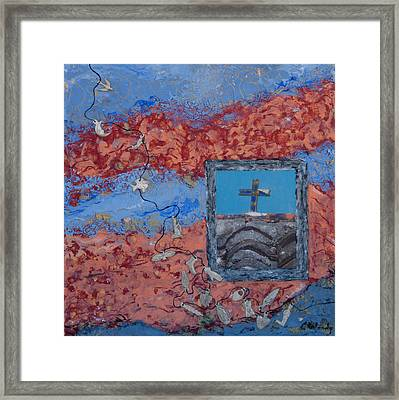 Framed Print featuring the mixed media Little Miracles From The Sky by Carla Woody