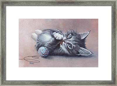 Little Mischief Framed Print by Cynthia House