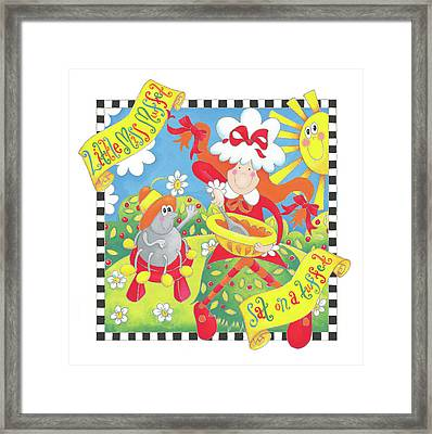 Little Miss Muffet Framed Print by P.s. Art Studios