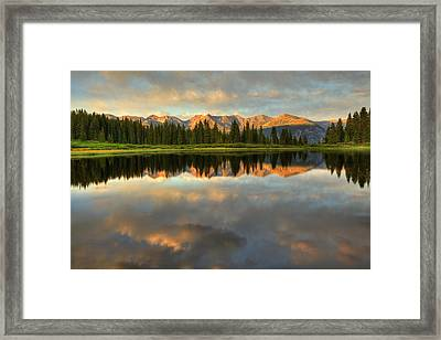 Framed Print featuring the photograph Little Molas Lake At Sunset by Alan Vance Ley