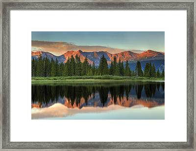 Framed Print featuring the photograph Little Molas Lake Sunset 2 by Alan Vance Ley