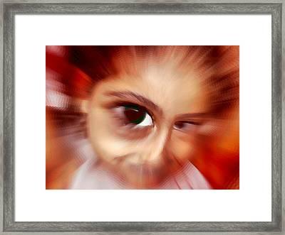 Little Mona Framed Print by Beto Machado