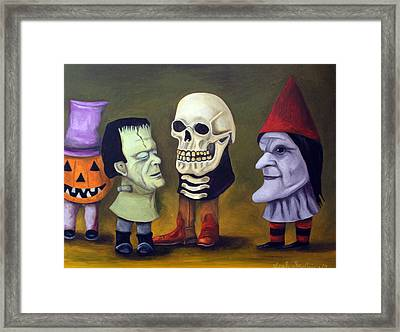 Little Monsters Edit 2 Framed Print by Leah Saulnier The Painting Maniac