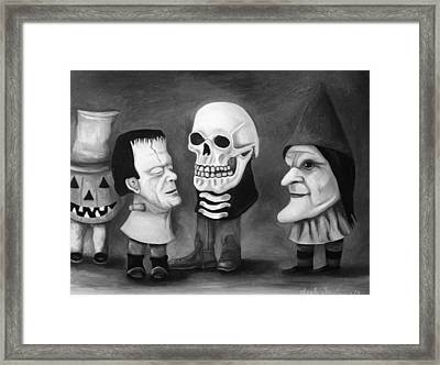 Little Monsters Edit 3 Framed Print by Leah Saulnier The Painting Maniac
