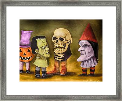 Little Monsters Edit 4 Framed Print by Leah Saulnier The Painting Maniac