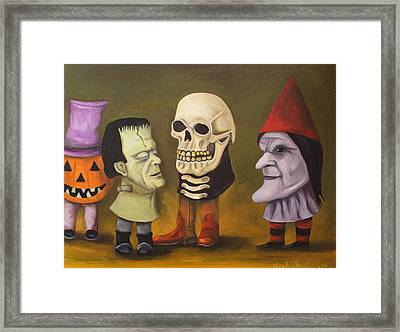 Little Monsters Framed Print by Leah Saulnier The Painting Maniac