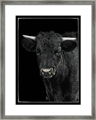 Little Moo Framed Print
