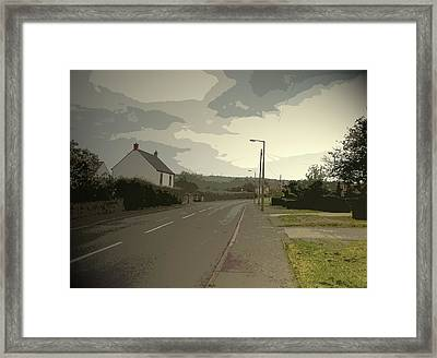 Little Morton Road In North Wingfield, Heading Framed Print by Litz Collection