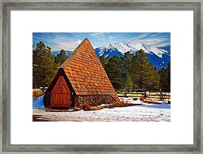 Little Mountain Church Framed Print