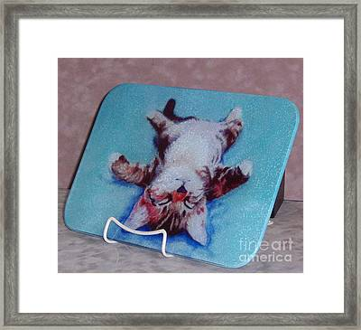 Little Napper Cutting And Serving Board Framed Print by Pat Saunders-White