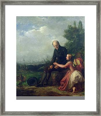 Little Nell And Her Grandfather Framed Print by William Holman Hunt