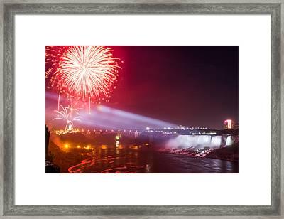 Little Niagara Falls Fireworks Framed Print