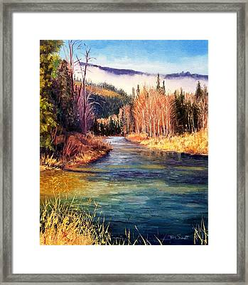 Little North Fork Cd'a River Framed Print