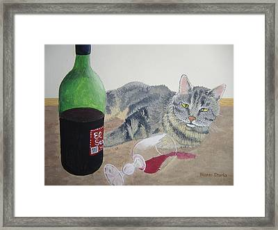 Little Ol' Wine Drinker Me Framed Print by Norm Starks