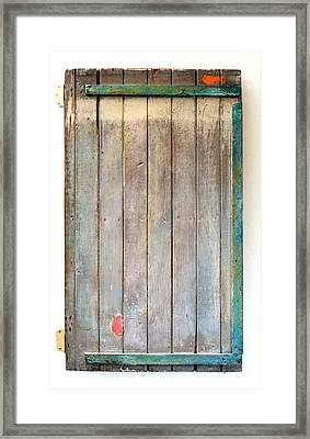 Little Painted Gate In Summer Colors  Framed Print by Asha Carolyn Young
