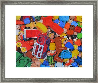 Little Peoples Framed Print by Joanne Grant