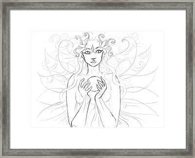 Little Piece Of The Universe Sketch Framed Print by Coriander  Shea