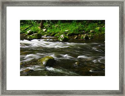 Little Piegon River Gatlinburg Tennessee Framed Print