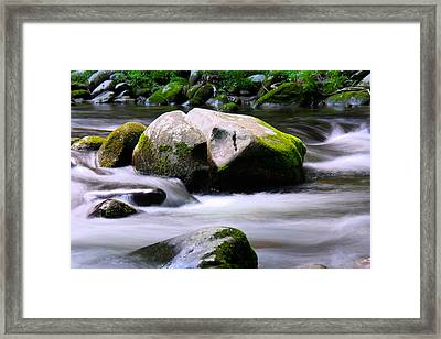 Little Piegon River Gatlinburg Tennessee Framed Print by Jerome Lynch