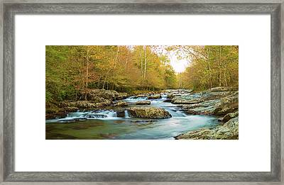 Little Pigeon River Flowing Framed Print by Panoramic Images