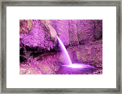 Little Pony Tail Falls  Framed Print by Jeff Swan