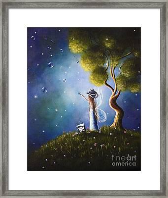 Little Possibilities Fairy Art By Shawna Erback Framed Print