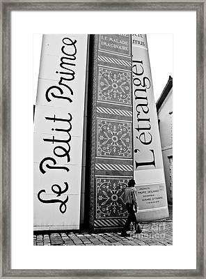 Little Prince And L'etranger Framed Print