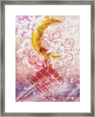 Little Princess Framed Print by Mo T