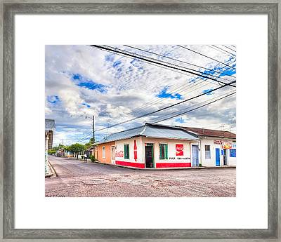 Little Pulperia On The Corner - Costa Rica Framed Print by Mark E Tisdale