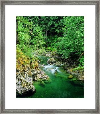 Little Qualicum River On Vancouver Framed Print