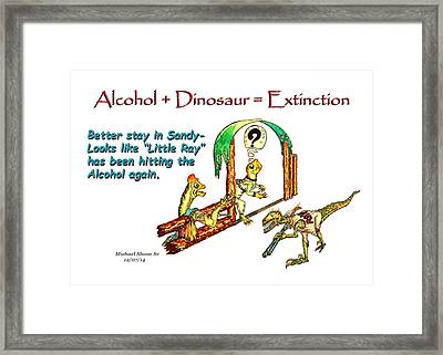 Little Ray Is Drinking Again Framed Print