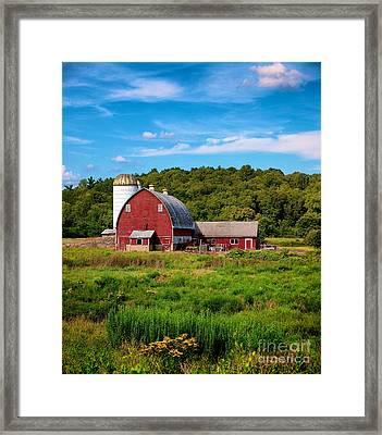 Little Red Barn Framed Print