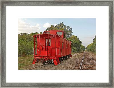 Little Red Caboose 2 Framed Print by HH Photography of Florida