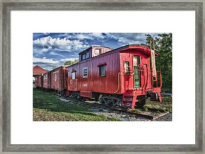 Little Red Caboose Framed Print by Guy Whiteley