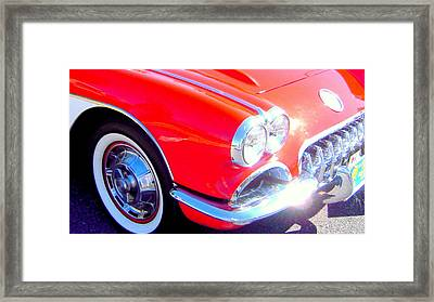 Little Red Corvette Framed Print