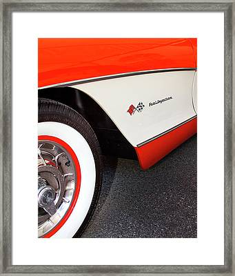 Little Red Corvette Palm Springs Framed Print by William Dey
