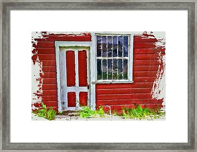 Little Red Cottage Framed Print