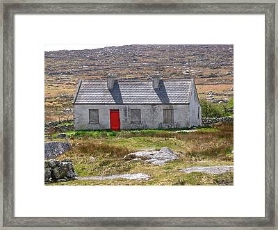 Framed Print featuring the photograph Little Red Door by Suzanne Oesterling